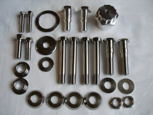 Honda 250/6 titanium and 7075 alloy parts