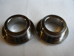 Honda 250/6 titanium top hat spacers