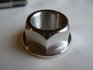 KTM RC8R titanium swinging arm axle nut