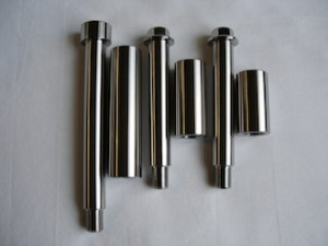 Titanium suspension bolts and sleeves