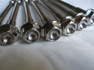 Montessa titanium engine mounting bolt heads