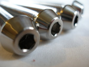Titanium Gilles type chain adjuster bolt heads