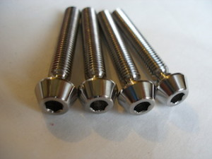 Titanium Gilles type chain adjuster bolts
