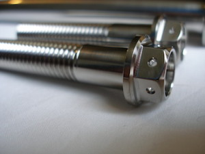 Harley Davidson titanium swinging arm spindle pinch bolt