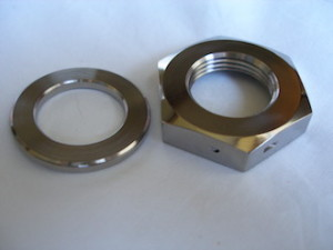 Yamaha R1 titanium sprocket nut and washer