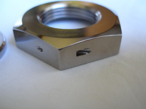 Yamaha R1 titanium sprocket nut lockwire hole