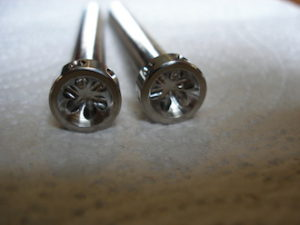 Titanium Gilles chain adjuster bolt heads