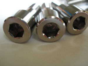 Titanium BST sprocket drive pin heads