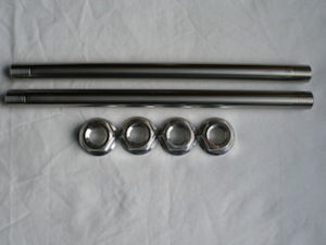 Titanium rear axles with 7075 alloy nuts
