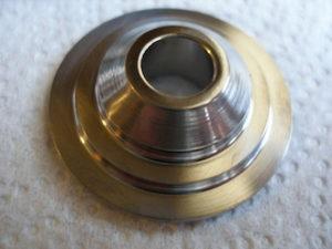 Titanium valve retainers, spring lands