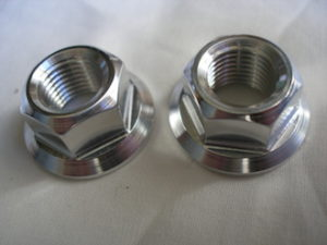 Yamaha R1 titanium engine mounting bolt nuts