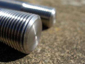 Yamaha TZ 350 titanium axle thread steel end plug