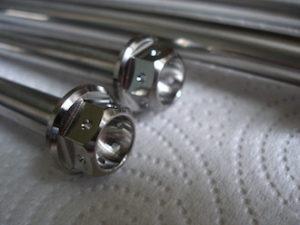 Titanium race spec bolt heads