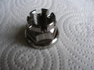 Titanium M14 castle nut