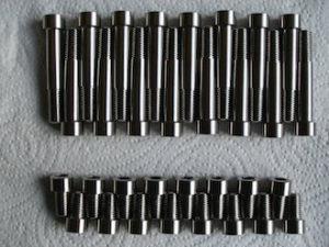 Titanium 5/16 UNF socket cap screws and bolts