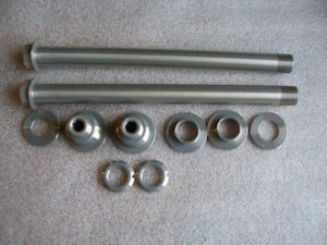 Aprilia RS250 7075 ally swingng arm spindle and gubbins