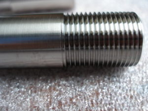 Suzuki RGV250 titanium rear wheel spindle thread
