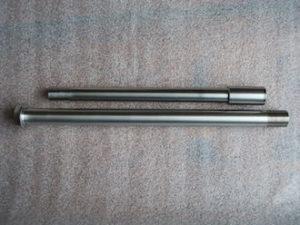 Suzuki RGV250 titanium wheel spindles