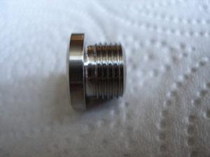 Titanium M12x1 casing plug