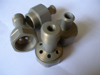 7075 alloy hard anodised clear Amal carb jet holders and bottom nuts