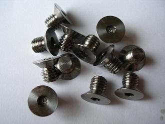 Tiny titanium M6 C/S screws