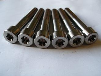 Titanium Porche M10x65 Torx 50 bolts
