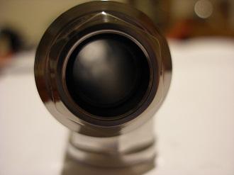 Looking down a Honda CBR 600 titanium sswinging arm spindle
