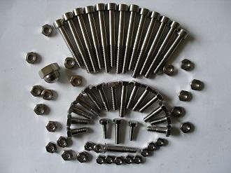 Titanium M4, M5 and M6 fasteners