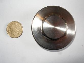 Titanium casing plug