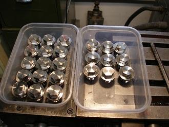 titanium magnetic sump plugs having the hex milled on