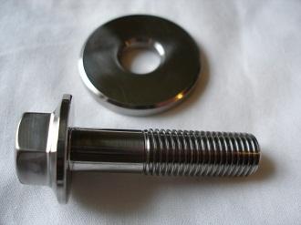 Yamaha R1 titanium pickup bolt and washer