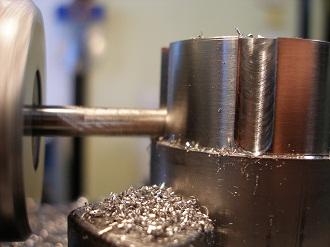 R1 titanium steering stem collar nut, milling the cutouts