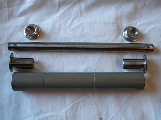 titanium and 7075 alloy swinging arm assembly components