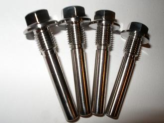Titanium calliper bolts