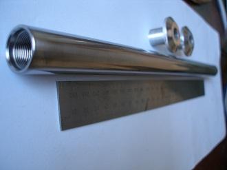 Titanium 20mm wheel spindle, 348mm long