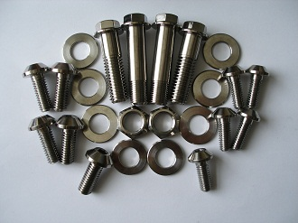 Harley Sportster suspension and disc bolts and washers