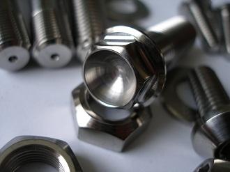 Titanium suspension bolt head