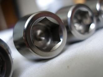 M12x1.25 titanium socket cap bolts with 10mm A/F socket