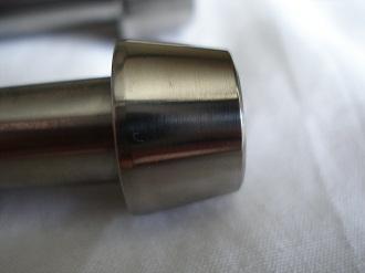 M12x1.25 titanium socket cap bolts with 10 degree taper on head
