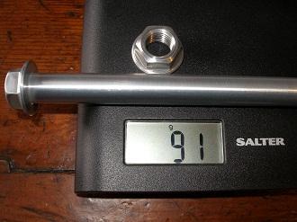 Montessa 7075 alloy swinging arm pin weight