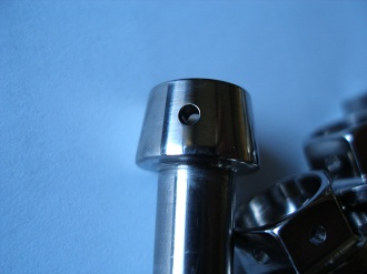 M8 titanium tapered skt cap bolt, drilled for lockwire