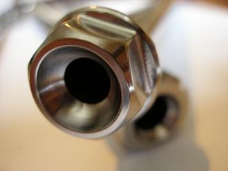 Montessa titanium swinging arm spindle head
