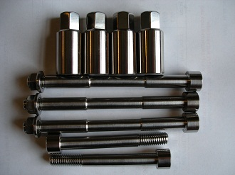Titanium M8 bolts and sleeve nuts