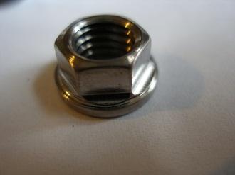 Tiny titanium M8 flange nut