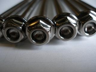Titanium M10, M8 and M6 bolt heads