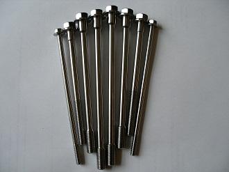 Titanium M10, M8 and M6 bolts