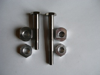 Titanium pedal bike brake bolts and 7075 alloy nuts