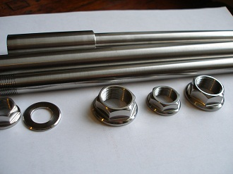Titanium spindle nuts