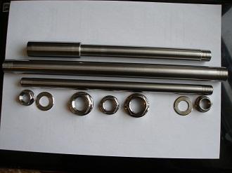 Titanium spindle set