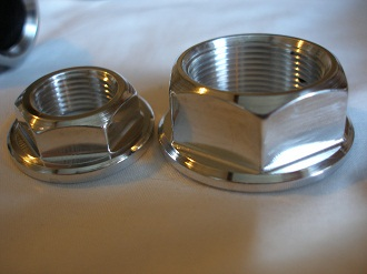 Buell 7075 alloy spindle nuts
